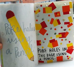 Poke hole with pencil. (Hopelessly.Hopeful) Tags: color art paper photography this colorful journal creative smith quotes keri wreck wreckthisjournal