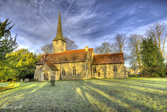 Good Easter Church (sparkeyb) Tags: morning sky sun sunlight cold tower church graveyard clouds sunrise religious countryside frozen nikon worship frost shadows religion sigma frosty graves spire 1020mm essex hdr photomatix goodeaster cs5 d7000 sparkeyb