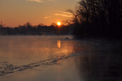 Icing (Lake Effect) Tags: cold ice water sunrise project river quiet weekend freeze utata stjosephriver utata:project=quiet