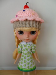 sunny with new dress and hat