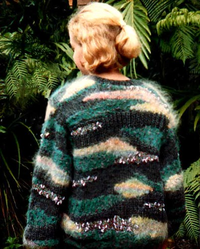 Intarsia- by Prudence Mapstone - free style 'cloud' knitting