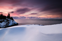 Drifting Pastels (Bryan O'Toole) Tags: longexposure winter sunset snow ontario canada landscape nikon snowdrift scenic superior wideangle nd bluffs soo lakesuperior manfrotto saultstemarie winterscape northernontario waterscape algoma kenko groscap colorefexpro singhray princetownship glamourglow kenkopro1d rgnd singhrayrgnd nikond7000 nikkorafs1024mm