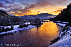 Golden Morning (James Neeley) Tags: sunrise landscape idaho snakeriver hdr swanvalley southfork 5xp jamesneeley flickr24