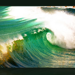 Rolling in the Deep (karen and mc) Tags: ocean blue sea green beach surf wave kauai hi wow3 wow4 wowhalloffame theawardtree mygearandme rollinginthedeep