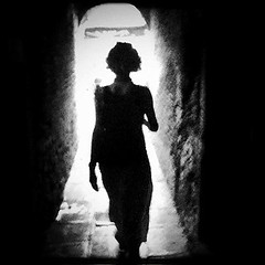 walking through a passageway. (#mr. X) Tags: door venice blackandwhite italy beautiful beauty walking dream tunnel goingforawalk mobilephone wife dreamy archway passage summerholiday femalebeauty femalesilhouette htcdesire jeffmathews photobyjeffmathews walkingthroughapassageway jeffmbcntumblrcom