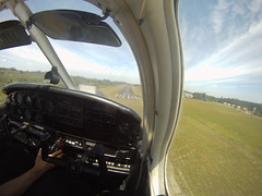 Short Final (me.o) Tags: sky clouds airplane flying airport aircraft aviation flight cockpit landing piper archer approach runway pilot pa28 finalleg rwy tgl singleengine touchandgo gopro shortfinal emb712