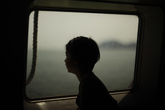 rindu hatiku (i) (memetic) Tags: window girl silhouette ferry outside looking profile malaysia backlit lumut unprocessed straightfromcamera  5dmk2 transwhattheheartmisses thanksnazforthesong