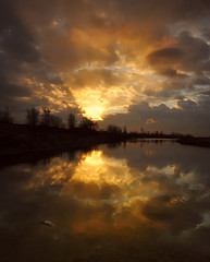 ... alba a La Piave ... (diomede2008) Tags: winter italy reflection water clouds sunrise reflections river landscape fire mirror nikon europe lightandshadow veneto piave provinciaditreviso nikond700 magicalskies mirrorser piaveriver diomede2008 angelobressan