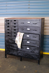 Black Storage Cabinet (Like That One) Tags: urban metal loft industrial cabinet storage labels dresser drawers likethattoo