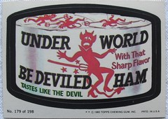1980 Wacky Packages Stickers UNDERWORLD BE DEVILED HAM (Christian Montone) Tags: cards sticker stickers humor spoof wackypackages topps tradingcards wakes wackypacks bubblegumcards nonsport wackystickers