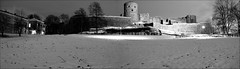 Bohus Fstning (johanbe) Tags: winter light bw panorama snow cold night dark vinter fortress sn svartvitt fstning bohus bohusfortress blackaandwhite bohusfstning