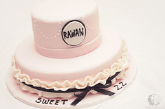 My Birthday cake .. (#102 Explored) (Rawan Mohammad ..) Tags: birthday pink black cake 22 sweet victorian style 80th mohammad 2012 rn محمد كيك rawan رن روان
