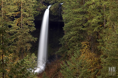 North Falls (Ian Sane) Tags: park trees green fall nature water oregon forest silver landscape ian photography state north images canyon falls sane sublimity