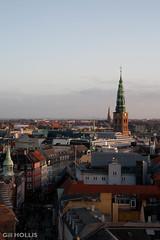 Copenhagen skyline (Glass-Half-Full) Tags: christmas copenhagen denmark december oresund 2011 oresundbridge roundtowerview