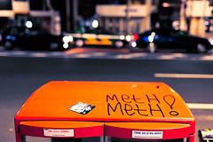 Meth Meth Shibuya (tokyofashion) Tags: street orange streetart art japan night japanese graffiti tokyo sticker mess tag shibuya fools meth 2012 postalbox cmwdorange methmeth cmwdweeklywinner