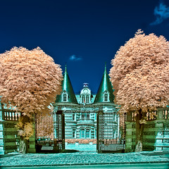 Champagne Castle - IR photo (Filip Nystedt) Tags: france castle gate europa champagne epernay frankrike irinfrared canoneos400d canonefs1022mm35usm