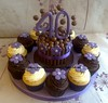 Mini Malteser Cupake Tower (Creations By Paula Jane) Tags: flowers cake 40th muffins cupcakes purple chocolate lilac birthdaycake bubs malteser