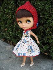 Little Vintage Queen Dress and Pixie Helmet