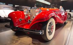 Mercedes Benz (JPSpecial1977) Tags: red rot classic museum mercedes benz stuttgart retro chrome oldtimer chrom daimler mercedesbenzmuseum