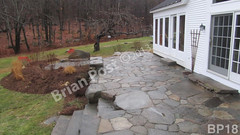 WM Brian Post 18, flat work, patio, steps, dry laid stone construction, copyright 2014