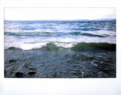 so much like the sea, instax fun image 5 of 5 (Just-a-Song) Tags: film water montana waves instant fujifilm flatheadlake stax choppy instantfilm highwind fujifilminstax instaxwide instax210 instax210wide flatheadlakeinterpretivetrailnumber77
