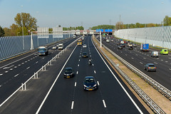 A10 Oost - Amsterdam (Netherlands) (Meteorry) Tags: holland netherlands amsterdam highway europe exterior traffic interior nederla