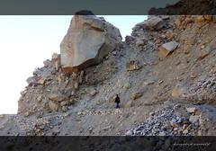 The hanging stone and the landslide zone (koushikzworld) Tags: mountain nature trekking photography fuji indian sony himalayas ganga gangotri gomukh carlzeiss shivling bhagirathi uttarakhand gaumukh koushikzworld koushikbanerjee