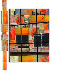 Urban Art~ Window (Karen McQuilkin) Tags: flowers quilt poppies karenmcquilkin urbanart~winodow reefelections