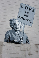 Where's Einstein's Other Half (Karol A Olson) Tags: streetart graffiti einstein unionmarket mrbrainwash thierryguetta