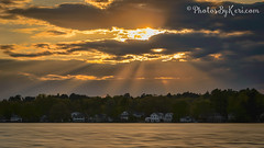 Rays Me Up (KAM918) Tags: sunset sky sun lake water weather clouds ma nikon god massachusetts rays sunrays beams sunbeams dracut d610