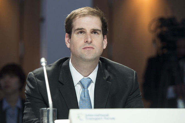 JB Straubel listens during the Open Ministerial Session