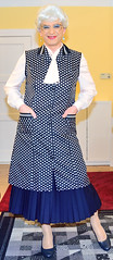 Ingrid022036 (ingrid_bach61) Tags: skirt mature button pleated kittel nylonoverall faltenrock bowblouse schleifenbluse durchgeknpft