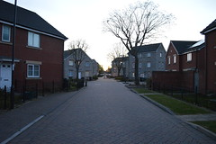 Shakespear Ave at sunset (gusset) Tags: bristol horfield