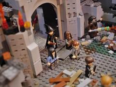 LEGO Battle of Hogwarts: Neville Has His Day (dbowker3d) Tags: lego harrypotter afol deathlyhallows legoharrypotter customlegobuild customlegoharrypotter