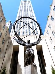 Atlas & GE Building (Noel Joyeux) Tags: nyc newyorkcity usa newyork manhattan atlas gebuilding