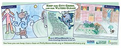 Septa Car-card Ad 1 (Partnership for the Delaware Estuary) Tags: turtle septa psa raingarden germantownfriends greencitycleanwaters cleanwaterart