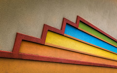 Color Blast (Darren LoPrinzi) Tags: abstract color building texture colors lines wall architecture canon colorful stripes architectural diagonal 5d canon5d zigzag stucco miii fragment diagonals urbanfragment architecturalabstract