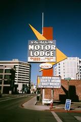 Motor Lodge, Reno (James Ball) Tags: film nevada olympus ishootfilm nv xa reno 800 thedarkroom battleborn cinestill