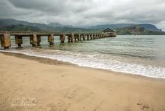 Hanalei Pier on Hanalei Bay - Kauai (Freshairphotography) Tags: history beach hawaii pier waves pacificocean wharf kauai hanaleipier hanalei hanaleibay blackpotbeach