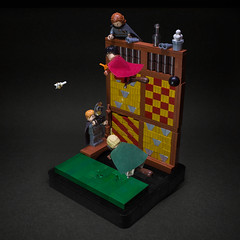 016 - The Rogue Bludger (roΙΙi) Tags: harrypotter chamberofsecrets malfoy hermione draco quidditch stands camera brooms bludger hogwarts rowling bricks magic vignette
