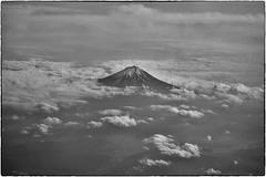 Mount Fuji, May 14, 2016 (Maggie Osterberg) Tags: bw japan tokyo blackwhite hasselblad stellar mountfuji aerialphotograph maggieo silverefexpro2