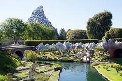 View of the Matterhorn from the Storybook Land Canal Boats in Disneyland (GMLSKIS) Tags: disney california amusementpark anaheim disneyland matterhorn storybooklandcanalboats