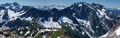 North Cascades Panorama (keithc1234) Tags: mountain snow landscape glacier northcascades northcascadesnationalpark sahalearm cascadepeak johannesburgmountain mixuppeak thetriplets