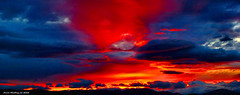 Scotland West Highlands Argyll a crimson sunset 21 May 2016 by Anne MacKay (Anne MacKay images of interest & wonder) Tags: sunset red sky mountains west crimson by clouds anne scotland highlands 21 argyll may picture mackay 2016 xs1