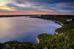 Subtle beauty (Jim Nix / Nomadic Pursuits) Tags: sunset lake clouds austin texas cloudy sony hdr goldenhour theoasis laketravis mansfielddam nomadicpursuits jimnix sonya7ii