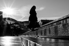 On the way to work (explored) (.niraw) Tags: bw kln sonne sonnenstrahlen freitreppe gegenlicht nonne nass awb feucht klnhbf gereinigt strasenfotografie niraw