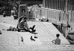 Tales Of The RiverBank - Canon FD 400mm f4,5 S.S.C. (petrwag) Tags: street blackandwhite bw blancoynegro blackwhite czech prague praha photographing canonfd ernobl clickcamera