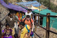 Paul made a friend (Tin-Tin Azure) Tags: world india heritage temple unesco archaeological mata gujarat pavagadh kalika champaner