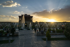 Sunset over Shah Mosque (Martin Tsvetkov) Tags: travel architecture photography lights iran perspective mosque wallpapers isfahan shah