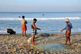 India - Kerala - Varkala - Fishermen - 100